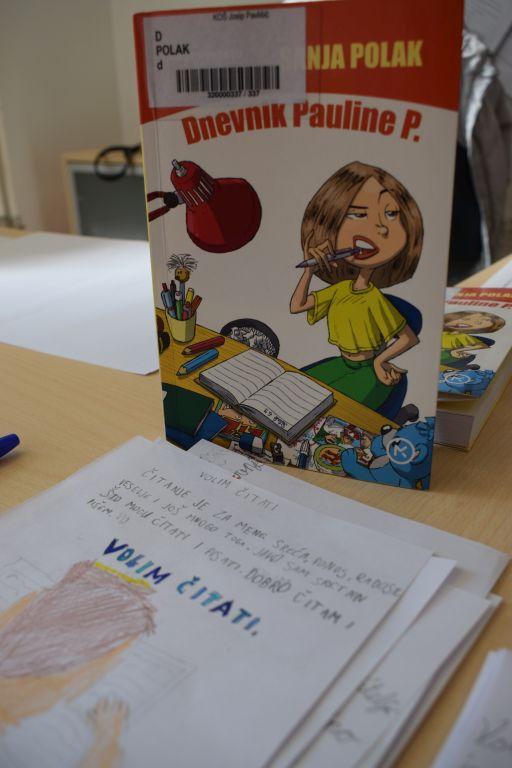 """""""Željela bih da sva djeca na svijetu znaju čitati."""" – Gloria Kristić, 3.a"""